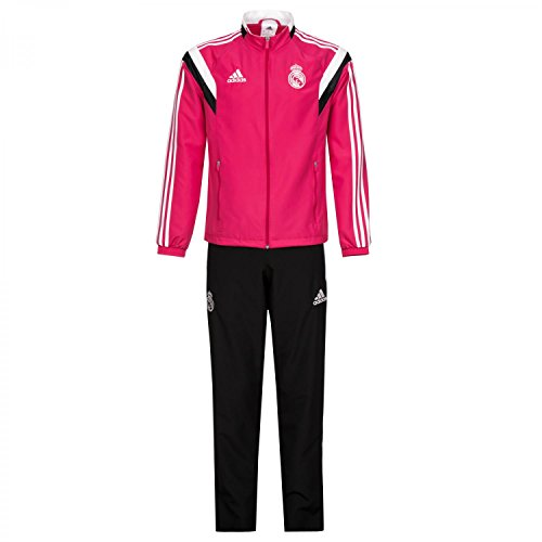 2014-2015 Real Madrid Adidas Presentation Tracksuit (Pink) Pink