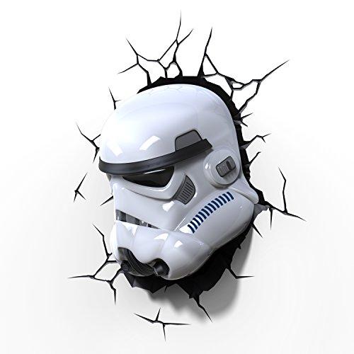 Star Wars Stormtrooper Light FX LED Kinderlampe Wandlampe - Nachtlicht für  kinder mit automatische Abschaltung und wandaufkleber
