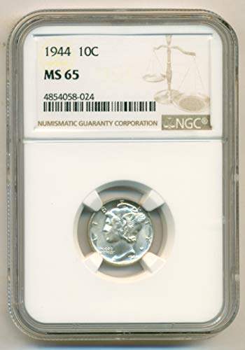 1944 Mercury Dime MS65 NGC