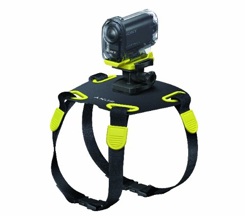 Sony AKADM1 Action Camera Mount for Dogs (Black Yellow)