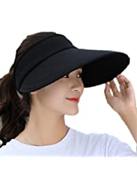 MaxxCloud Women's Sun Visor Hats Large Brim Summer UV Protection Beach Cap