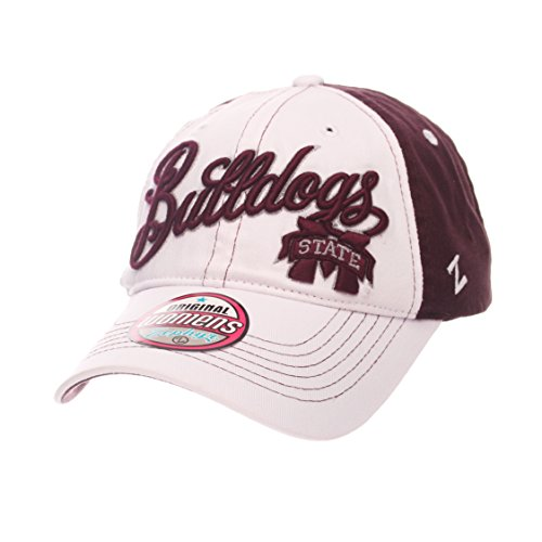 Zephyr NCAA Mississippi State Bulldogs Adult Women Vogue Women's Relaxed Hat, Adjustable, White/Team Color