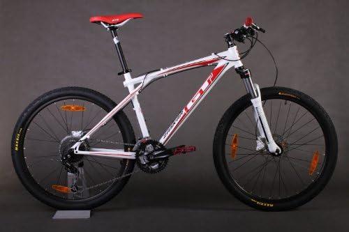 GT - Bicicleta de Ciclismo, tamaño M, Color Rojo/Blanco: Amazon.es ...