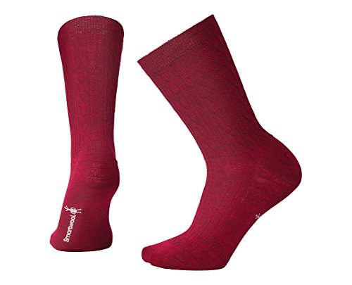 (Smartwool Women's Cable II (Tibetan Red Heather))
