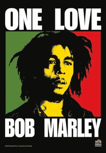HUGE Bob Marley ONE LOVE Rasta BANNER Flag – 5 FEET TALL … Wall Hanging Cloth Poster, bong tapestry