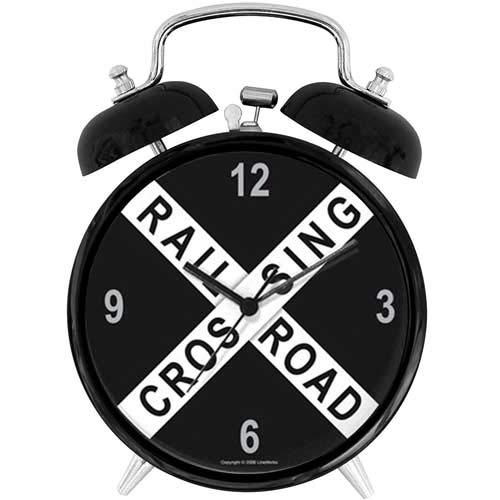 47BuyZHJX Unique Retro Style Decoration-Railroad Crossing Clock,4