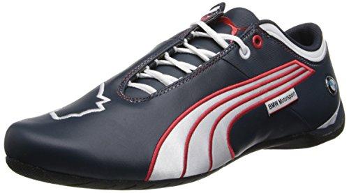 PUMA Men's BMW MS Future Cat M1 Leather Shoe,BMW Team Blue/White/High Risk (Future Cat M1 Sneaker)