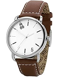 Psycho Bunny Mens Classic Brown White