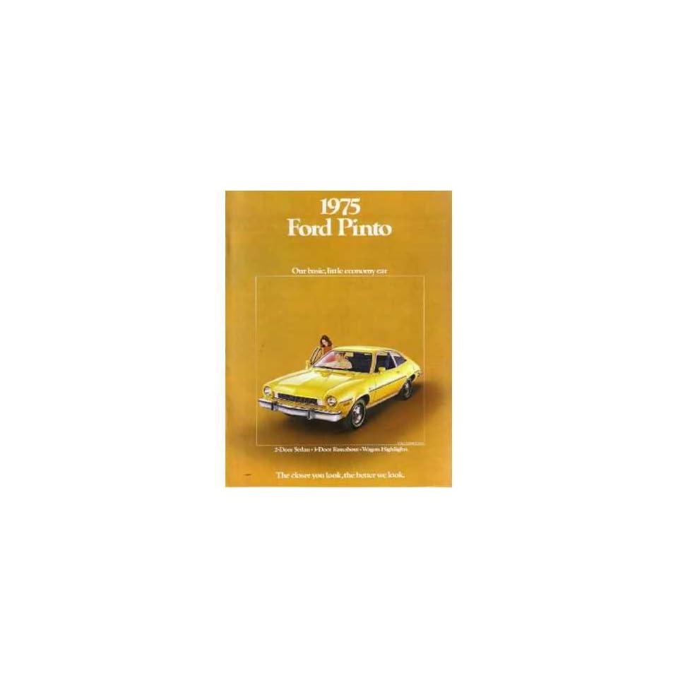 1975 FORD PINTO Sales Brochure Literature Book Piece