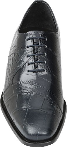 Giorgio Brutini Mens Carack Plain Toe Oxford Navy Leather fDZnTCB