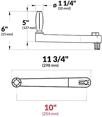 """Universal Floating Locking Winch Handle 10/"""" Five Oceans FO-87-1"""