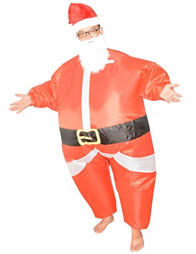 Santa Suit Novelty Inflatable Christmas Santa Claus Costume Adult One Size Fit Most