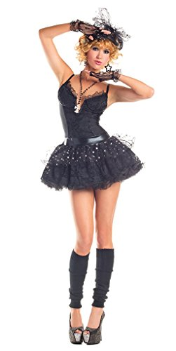 Material Girl Costume Madonna (Adult size Material Girl Pop Star Costume - Madonna - Large)