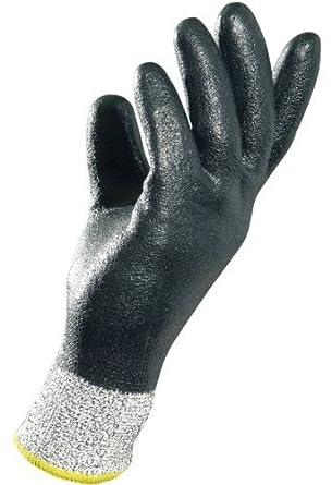 "MAPA Krynit 559 Nitrile Heavy Duty Glove, Cut Resistant, 9-1/2"" Length, Size 11, Black"