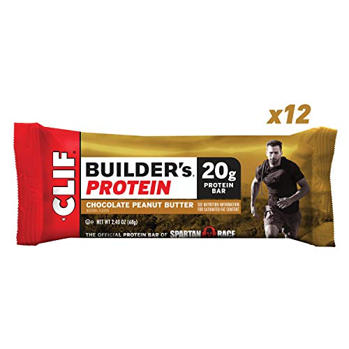 CLIF BUILDER'S - Protein Bar - Chocolate Peanut Butter Flavor - (2.4 Ounce Non-GMO Bar, 12 Count)