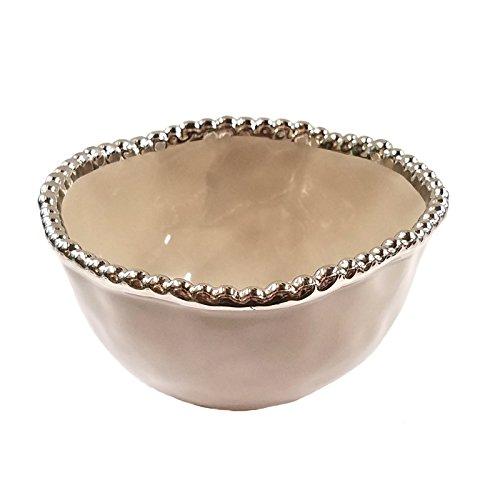 Pampa Bay Small Porcelain Bowl, Gray - Bay Mist