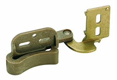 Amerock BP2606BB Marathon Knife Hinge with Self Closing Overlay, Burnished Brass, 1/2-Inch