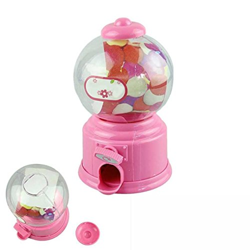 Nacome Baby Candy Bank Toy,Classic Vintage Double Bubble Gum Machine Candy Dispenser Gumball Toy for Baby Candy Save (Pink) ()