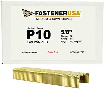 5//8 Leg x 1 Crown 16GA Galvanized P10 Staples 10M Box