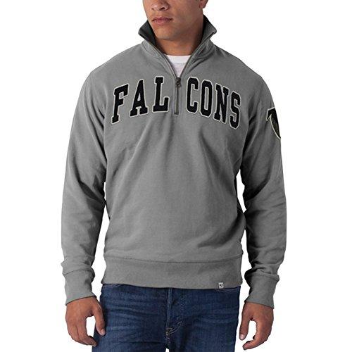 NFL Atlanta Falcons Men's Striker 1/4 Zip Jacket, Medium, Wolf Grey