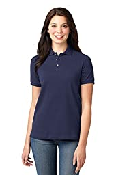 Port Authority Women\'s Pique Knit Polo 3XL Navy