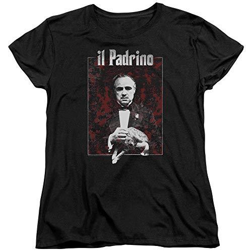 Trevco Godfather Sangue Women's T Shirt, Medium Black