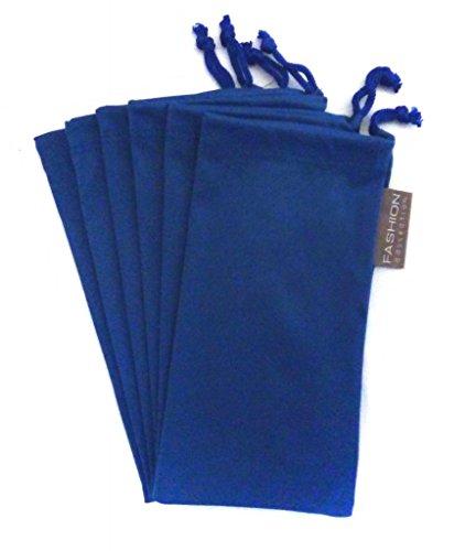 6 PC Sunglass Eyeglass Microfiber Soft Lens Cloth Carry Bag Pouch Case (BLUE) from moda