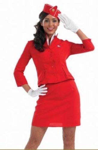 Virgin Atlantic Air Hostess Female Fancy Dress Costume - XL (USA 14-16)