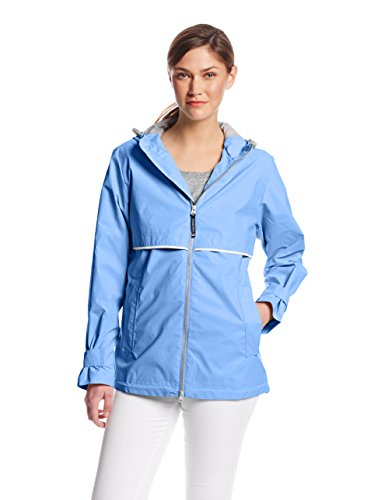 Charles River Apparel Women's New Englander Waterproof Rain Jacket, Periwinkle, XL