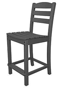 """41.25""""reciclado energía al aire libre Patio contador silla–gris pizarra"""