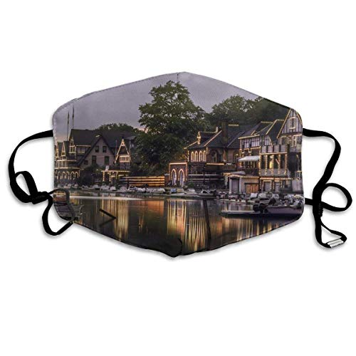 Philadelphia Boat House Mouth Chic Mask Unisex Dust Protecting Chic Mask Reusable Chic Mask for Men and Women ()