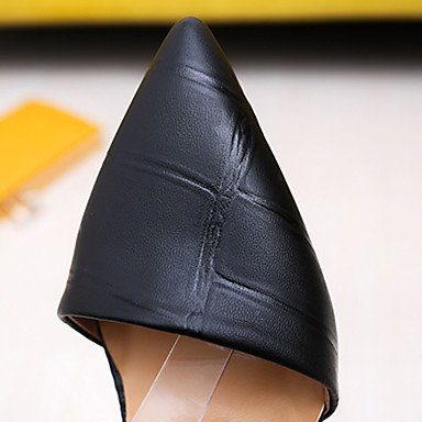 LvYuan Mujer Sandalias PU Primavera Verano Hebilla Tacón Stiletto Negro Amarillo Rojo 7'5 - 9'5 cms ruby