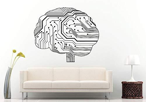fancjj Etiqueta de la Pared Especial Neureléctrico Cerebro Humano ...
