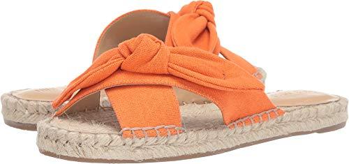 (Nine West Women's Brielle Espadrille Flat Sandal Orange 9 M US)