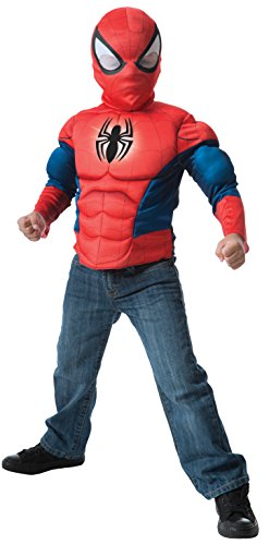 Imagine by Rubie's Spider-Man Deluxe Light Up Muscle Chest Shirt Set Costume -