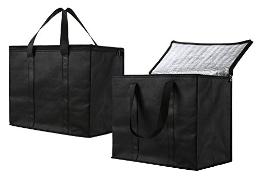 2 Pack Insulated Reusable Grocery Bag, Extra Large Size, Stands Upright, Collapsible, Sturdy Zipper by NZ Home (Image #5)