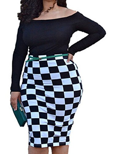 Checkerboard Print Dress - 5