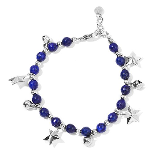 Lapis Star Bracelet (Shop LC Lapis Lazuli Stainless Steel Bracelet with Star Charm 70-8.25in)