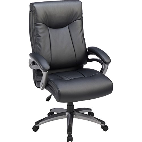 (Lorell 69516 High-Back Exec Chair, Leather, 27