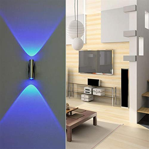- Tpingfe Double-Headed LED Wall Lamp, Home Sconce Bar Porch Wall Decor Ceiling Light Blue