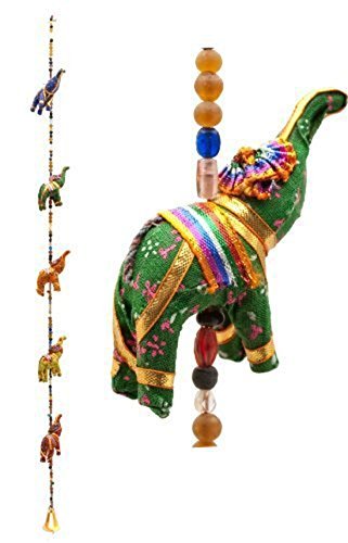 Indian Traditional Five Elephant Hanging Layer Door Hanging, Wall Hanging, Decorative Hanging Gift Box Pack ()