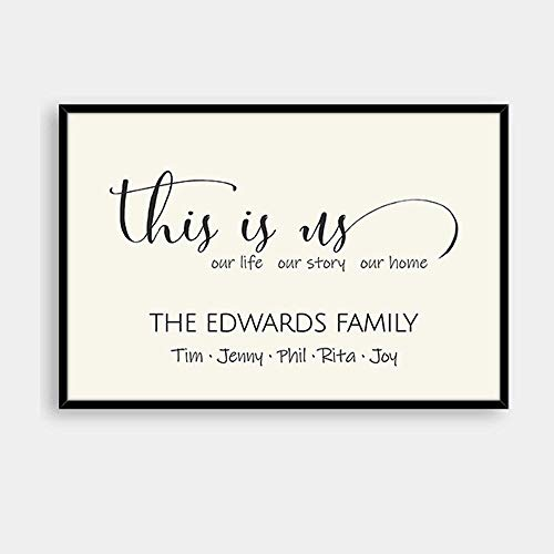 Personalized This Is Us Sign, Canvas Wall Art, Blended Family Wedding Gift Home Decor