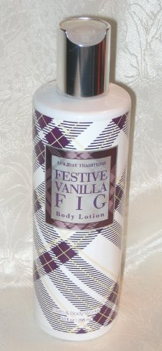 Bath & Body Works Holiday Traditions Festive Vanilla Fig Body Lotion 10 fl oz (295 ml)