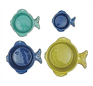 Stoneware Fish Measuring Cups - 2 Sets