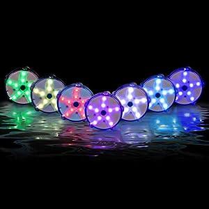 Floating Pool Lights 2PK, LED Color-Changing Underwater Pool Lights That Float, 100% Waterproof Starfish Lamp, Lighting…