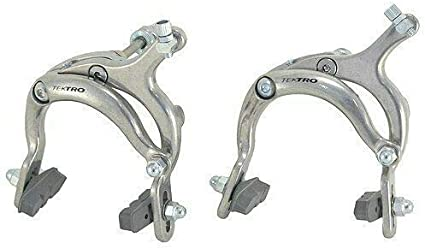 Silver TEKTRO 900A Road Calipers Brake Set Dual Pivot 72-92mm Nutted Mount