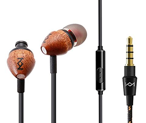 Vaslon Premium Wood Wired Earphones Earbuds Headphones with Microphone and Inline Control,Stereo Bass Noise-isolating Wooden In-Ear Earphone Earbud Headphones with MIC & Line (Ipad 4 Back Housing)