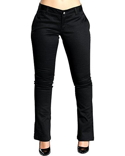 Straight Leg Jeans Dickies - Dickies Girl Juniors 4 Pocket Straight Leg Pant,Black,9