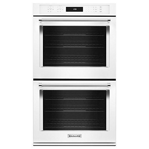 Price comparison product image KitchenAid KODE500EWH 30 Inch Double Electric Wall Oven with 5.0 cu. ft. Primary Oven,  5.0 cu. ft. Secondary Oven,  Even-Heat True Convection Cook and Dual Temperature Probes
