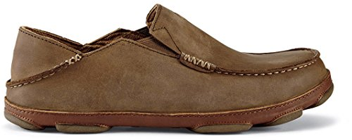 OLUKAI Men's Moloa Slip On Shoe (10 D(M) US, Ray/Toffee)